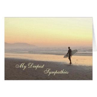 Sympathy card: Surfer