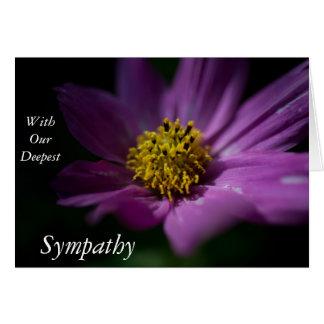 Sympathy Card with a Purple Flower