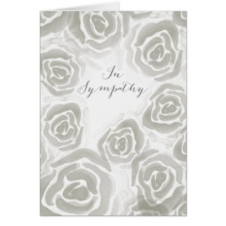 Sympathy Card with Hand Painted Roses