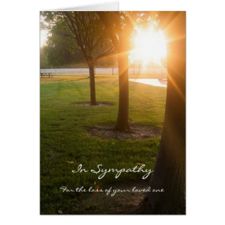 Sympathy Card with Sunset