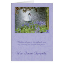 Sympathy Card With Swan And Woodland