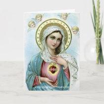 Sympathy Cards   Sacred Heart Mary 3