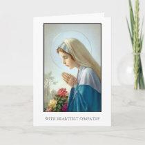 Sympathy Cards: Vierge Au Chapelet Card
