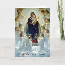 Sympathy Cards   Virgin With Angels