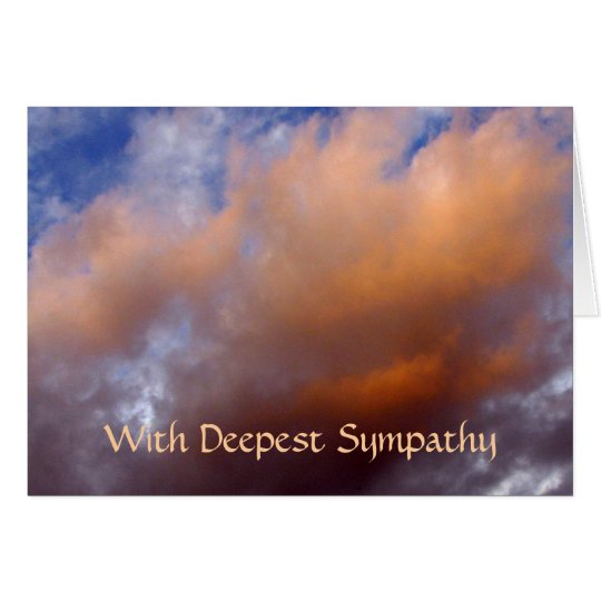 Sympathy cared - peach color clouds card