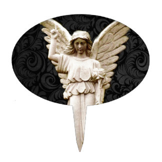 sympathy cemetery memorial Grief Gothic Angel Cake Topper