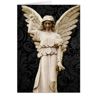 sympathy cemetery memorial Grief Gothic Angel Card