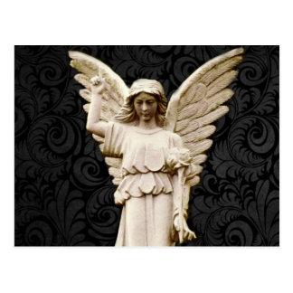 sympathy cemetery memorial Grief Gothic Angel Postcard