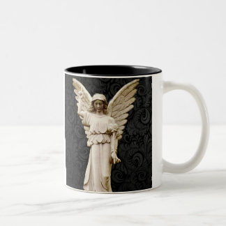 sympathy cemetery memorial Grief Gothic Angel Two-Tone Coffee Mug