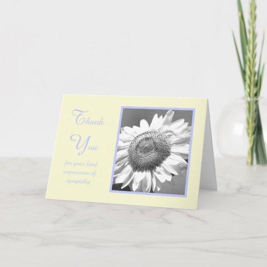 sympathy condolence thank you card sunflower - Condolence Thank You Cards