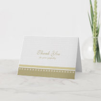 Sympathy Death Thank You Card - Classic Elegance