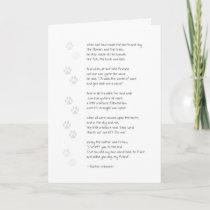 Sympathy Dog Loss Card - Dog Poem on Front