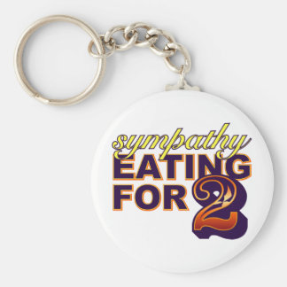 Sympathy Eating for Two Basic Round Button Keychain