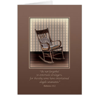 Sympathy, Empty Rocking Chair, Religious Greeting Card