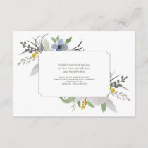 Sympathy Floral Thank You Notecard