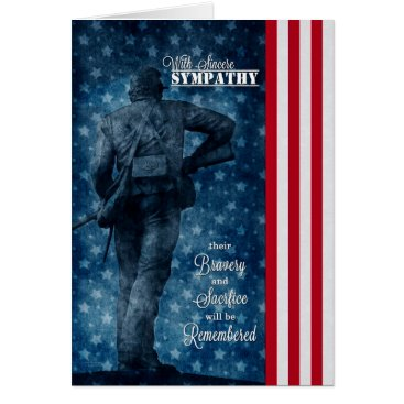 Sympathy for Loss of a Soldier Stars and Stripes Card