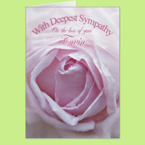 Sympathy for loss of a Twin, a beautiful pink rose Card