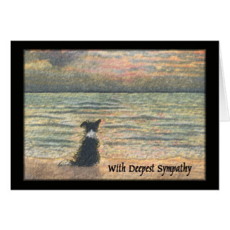 Sympathy for loss of dog card