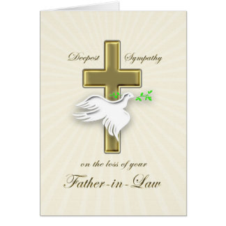 Sympathy for loss of father-in-law card