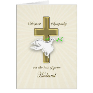 Sympathy for loss of husband card