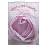 Sympathy for loss of Mother, a beautiful pink rose Card