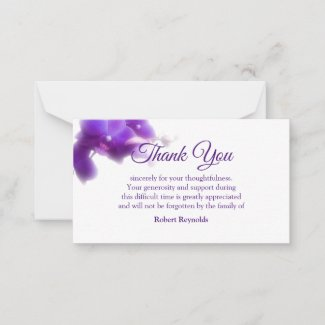 Sympathy Funeral Floral & Photo Thank You Note Card