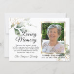 Sympathy Funeral Memory Greenery THANK YOU Photo