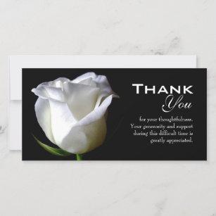 sympathy thank you cards zazzle