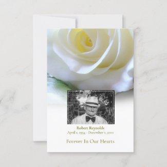 Sympathy Funeral White Rose Photo Thank You