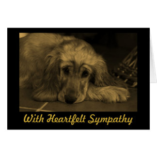 Sympathy Golden Retriever Card