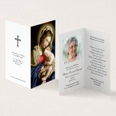 Sympathy Holy Cards | Madonna & Child
