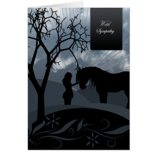 Sympathy - Horse & Woman Silhouettes Card