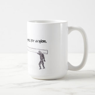 Sympathy is no substitute for action (mug).