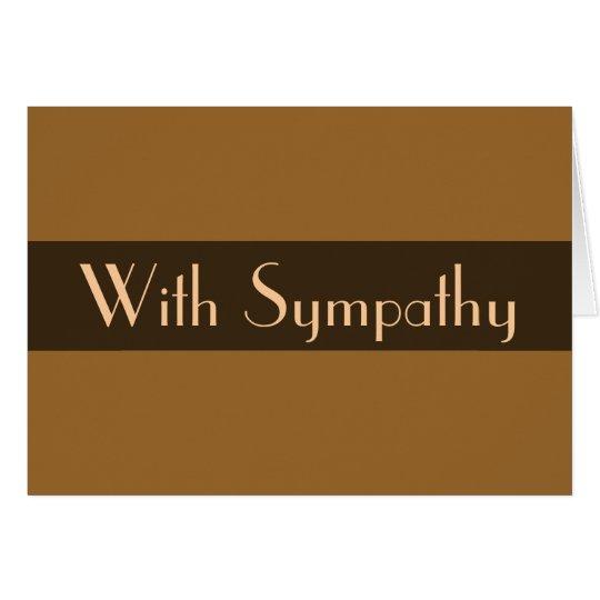 sympathy Light brown Card