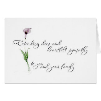 SYMPATHY - LOSS OF A LOVED ONE CARD