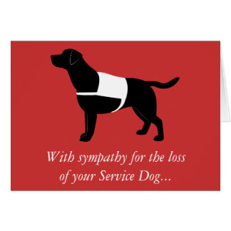 Sympathy Loss Service Black Labrador Retriever Card