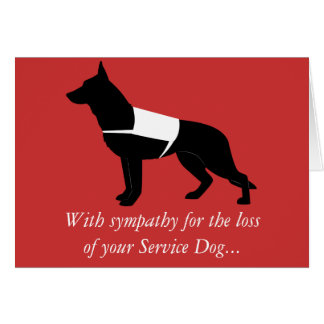 Sympathy Loss Service German Shepherd Dog Card