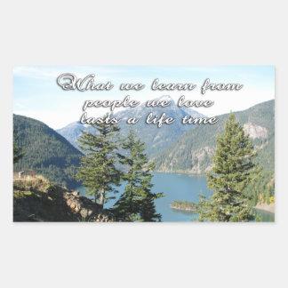 Sympathy-Loved Ones Passed-Lake Rectangular Sticker