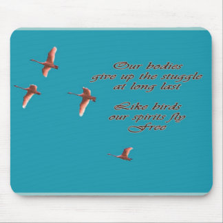 Sympathy-May You Find Comfort Trupeter Swans Mouse Pad