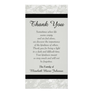 Sympathy Memorial Thank You Photo Card - Classic