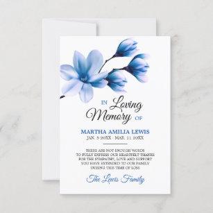 Sympathy Memory Flower Blue Magnolia THANK YOU