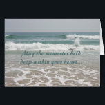 """Sympathy Ocean Beauty Card<br><div class=""""desc"""">It is never easy finding the right sympathy card. When I do find a card that I like I buy several, because you never know when you will need a sympathy card. The words expressed in this card are heartfelt, but you do have the option of changing the expression on...</div>"""