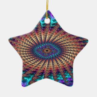 Sympathy of Faith Fractal Ceramic Ornament