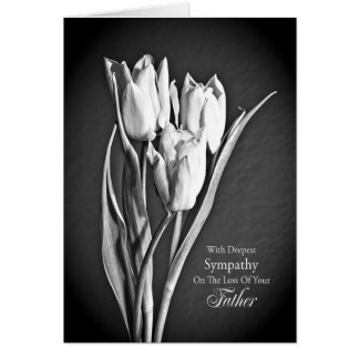 Sympathy on loss of father. card