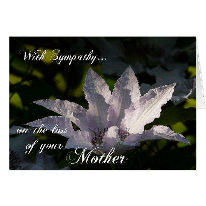 sympathy cards for loss of mother