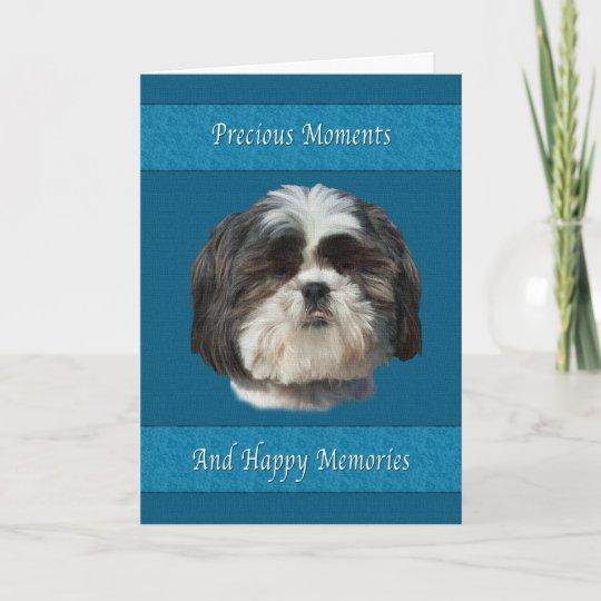 Loss Of Pet >> Sympathy On Loss Of Pet Shih Tzu Dog Card Zazzle Com