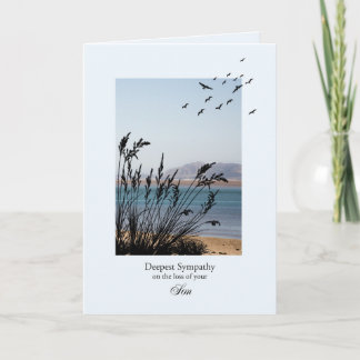Sympathy on Loss of Son Seaside Scene Card