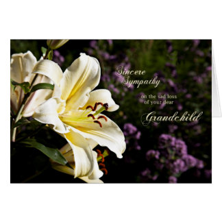 Sympathy on the death of a grandchild. card
