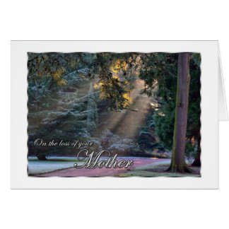 Sympathy on the Loss of Your Mother Sun Rays in Fo Card