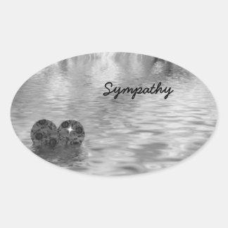 Sympathy! Oval Sticker